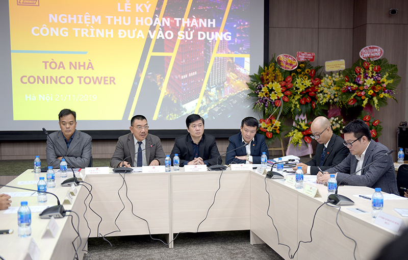 Ông Nguyễn Văn Công – Chủ tịch HĐQT, Chủ tịch HĐNT Công ty phát biểu chỉ đạo tại buổi lễ