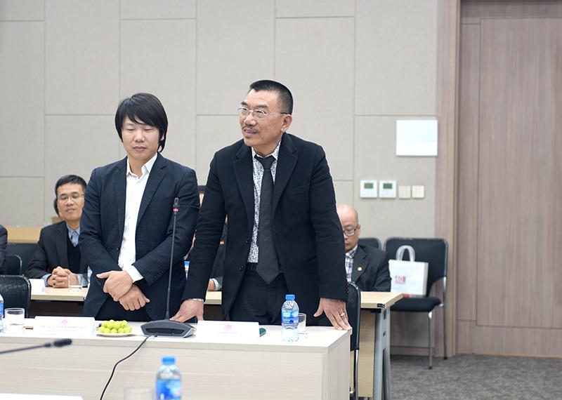 Ông Nguyễn Văn Công - Chủ tịch HĐQT phát biểu tại buổi lễ
