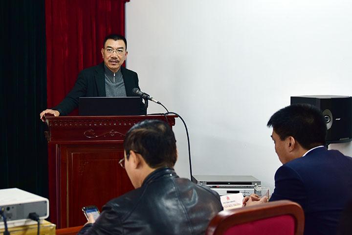 Chủ tịch HĐQT Nguyễn Văn Công phát biểu chỉ đạo tại hội nghị