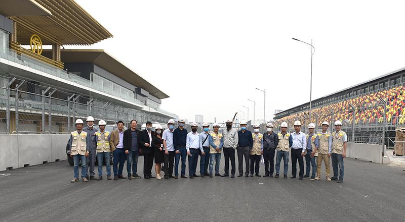 Đoàn lãnh đạo CONINCO tại công trường dự án trường đua F1 Hà Nội