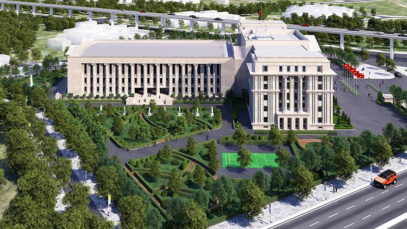 Phối cảnh dự án Trụ sở Tòa án nhân dân thành phố Hà Nội