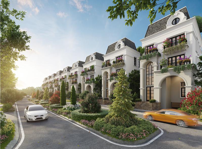 Nằm trong khu đô thị hiện đại ParkCity Hanoi, 57 căn biệt thự phiên bản giới hạn Le Jardin mang kiến trúc của những dinh thự Pháp cổ điển