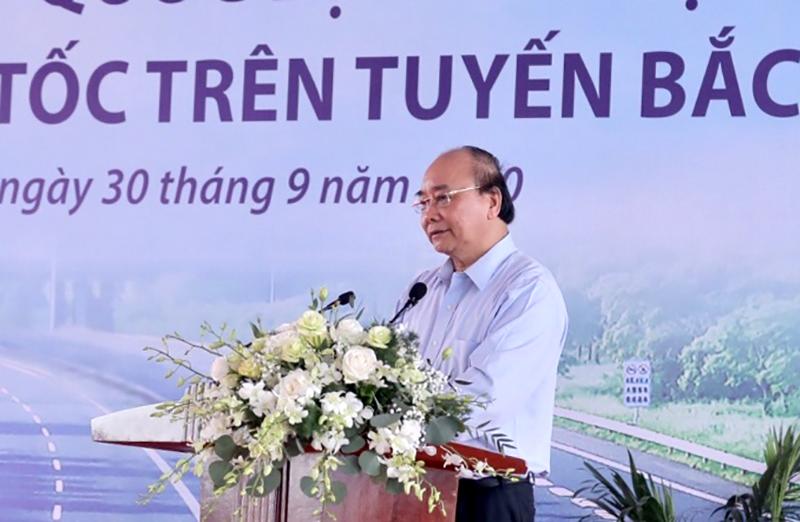 Thủ tướng Nguyễn Xuân Phúc phát biểu chỉ đạo tại lễ khởi công
