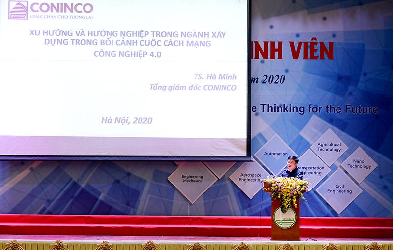 TS. Hà Minh – Tổng giám đốc CONINCO chia sẻ tại buổi lễ