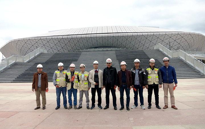 Đoàn lãnh đạo CONINCO kiểm tra công trường dự án