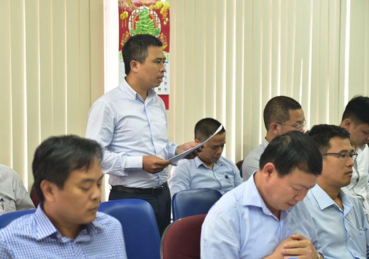 Ông Nguyễn Tiến Doát - Trưởng Ban kiểm soát trình bày báo cáo của Ban kiểm soát năm 2017