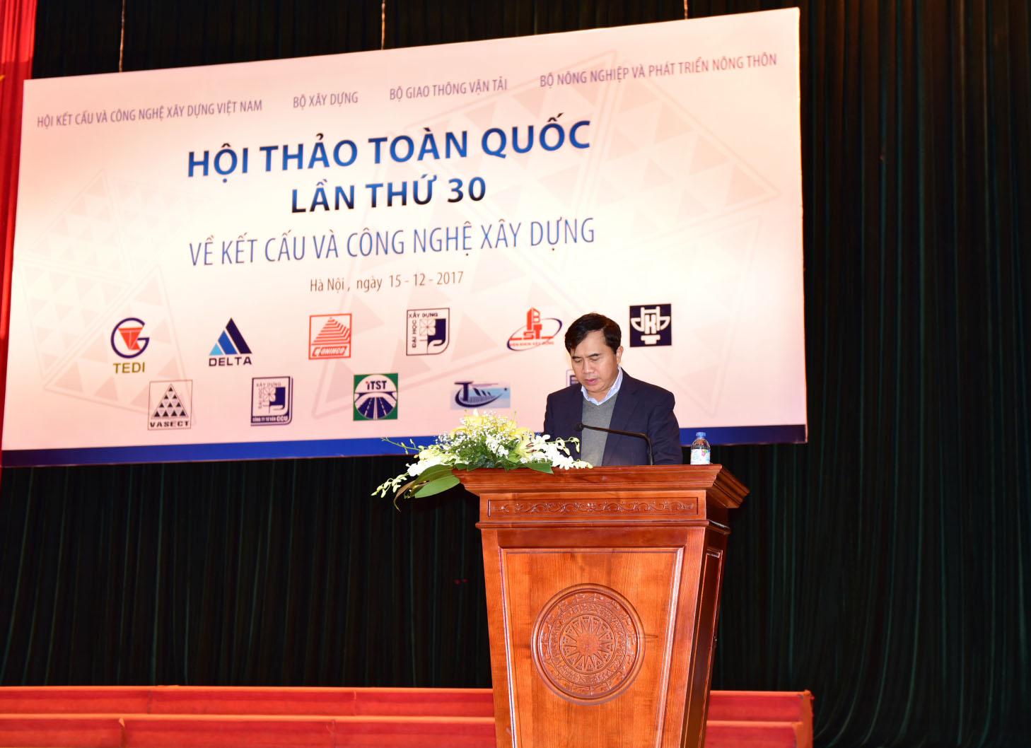 TS. Lê Quang Hùng - Thứ trưởng Bộ Xây dựng phát biểu tại Hội thảo