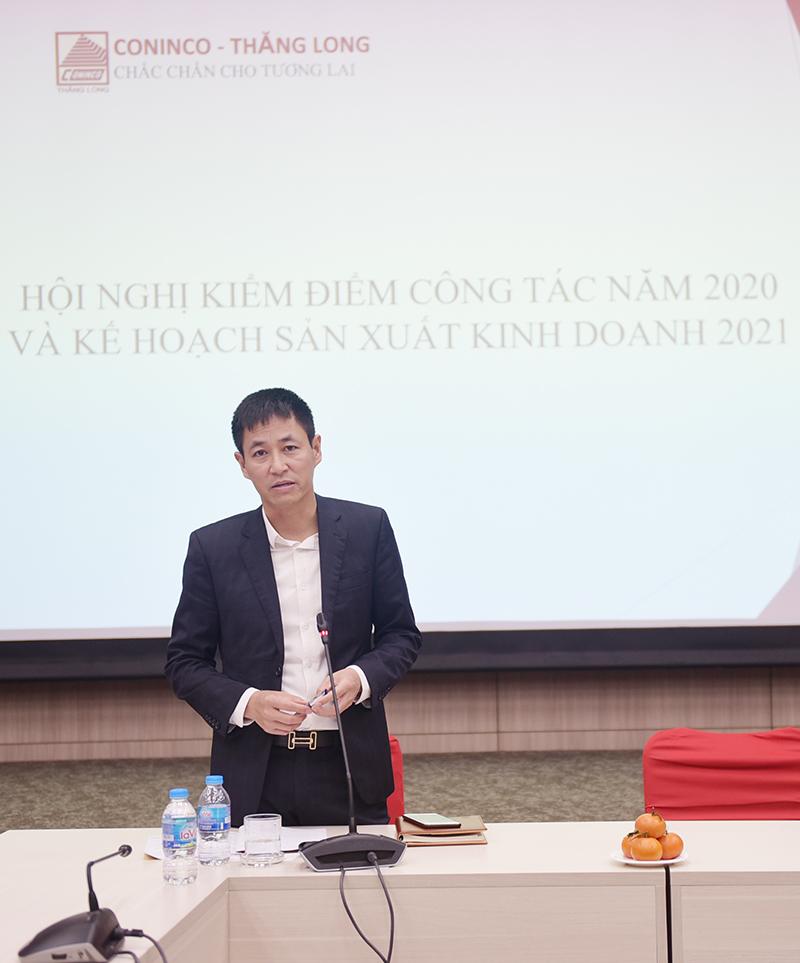 Ông Trần Ngọc Đồng – Tổng Giám đốc CONINCO Thăng Long chủ trì hội nghị