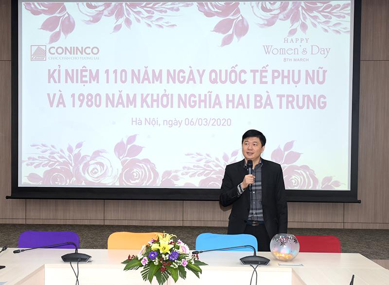 TS. Hà Minh - Tổng Giám đốc phát biểu tại lễ kỷ niệm