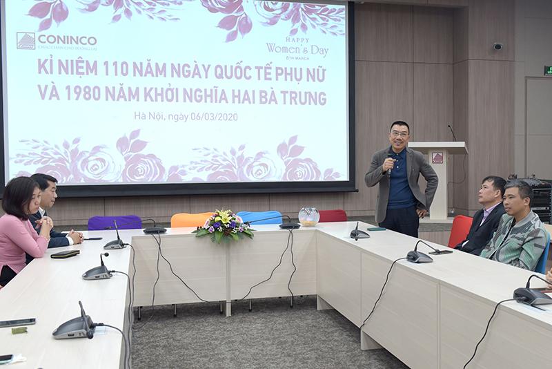 Chủ tịch HĐQT Nguyễn Văn Công phát biểu tại buổi lễ mít tinh